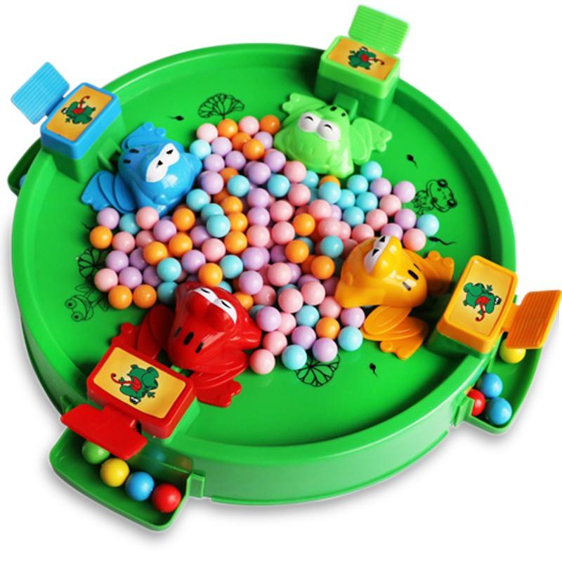 Bộ đồ chơi ếch ăn kẹo (bộ ếch nhiều bi) cho cả gia đình 4 người chơi – Đồ chơi trẻ em 3 4 5 6 tuổi