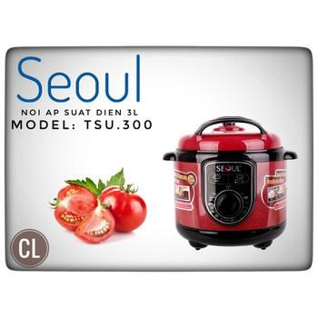[Mã 267ELSALE hoàn 7% đơn 300K] Nồi áp suất đa năng Seoul TSU-300 3L 750W - Hàng chính hãng