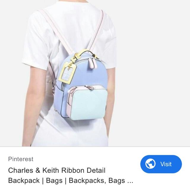 Balo Charles and keith ribbon backpack
