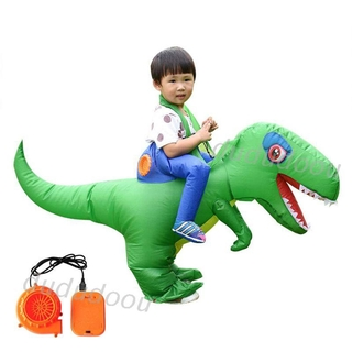 Inflatable Adults Children Riding Dinosaur Costume Masquerade Cosplay Wildlife