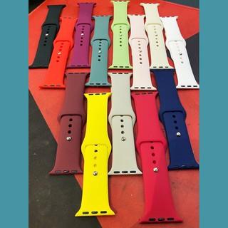 [SIZE M] [ĐỦ MÀU SẮC] Dây đồng hồ Apple Watch - Chất liệu cao su - Màu sắc trẻ trung - Size 38 - 40 - 42 - 44mm