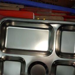 Combo 10 khay đựng cơm 5 NGĂN LOẠI 304 - khay cơm inox Combo 10 khay đựng cơm 5 NGĂN LOẠI 304