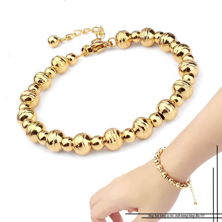Lắc tay Bi nữ Titan mạ vàng 18k duyên dáng SP002