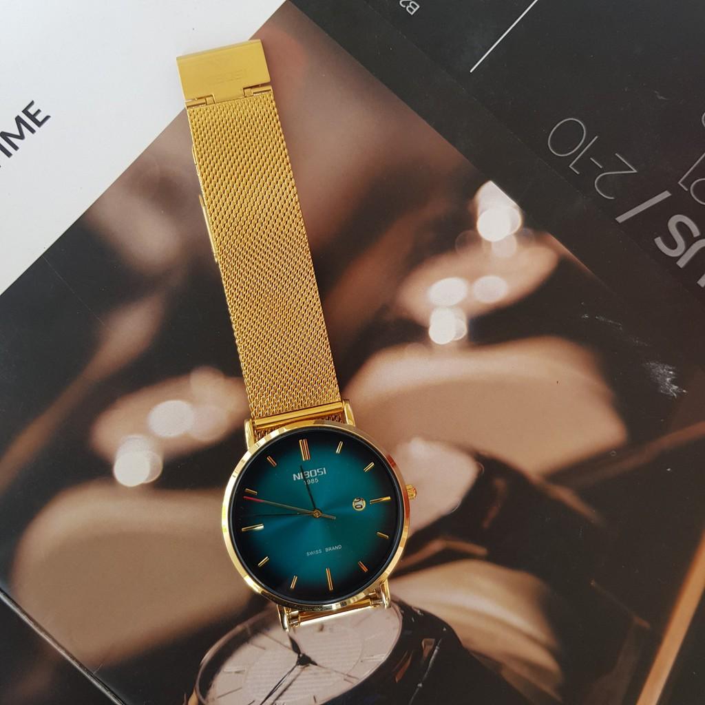 [Tặng vòng tay] Đồng hồ nam NIBOSI chính hãng NI2362.05 Fullbox dây đeo hợp kim cao