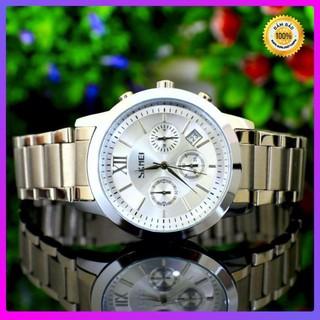 Đồng hồ nam skmei chính hãng chạy full 6 kim (tặng kèm hộp , pin và phụ kiện thâu dây)