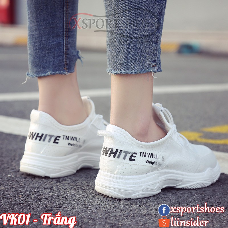 Giày Ulzzang thể thao nữ OFF WHITE SO SPORT VK01 siêu thoáng khí màu đen, trắng và hồng