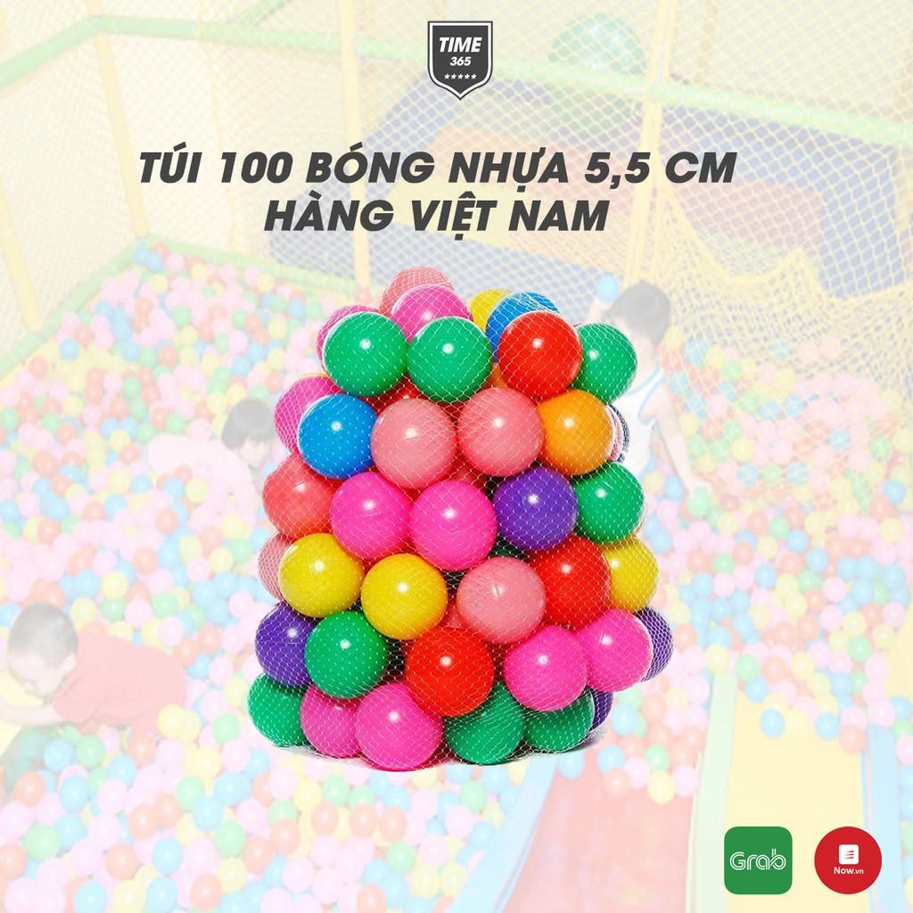 Túi 100 quả bóng nhựa cho bé vui chơi Bóng Nhựa Việt Nam