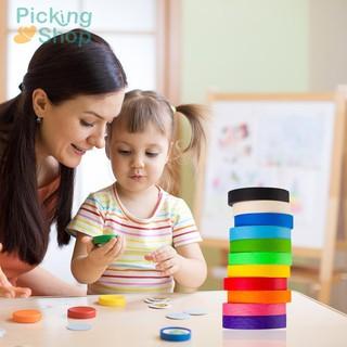 11pcs Colorful Washi Masking Tape Decorative Adhesive for Kids DIY Albums