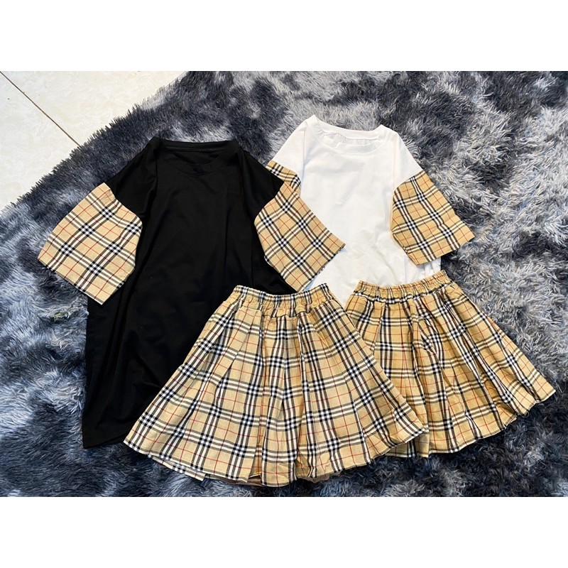 Sét váy BBR kèm chân váy hàng hót trends(ảnh thật)