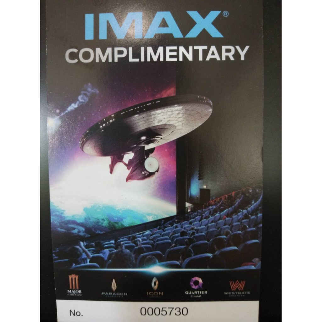ตั๋วหนังเมเจอร์  บัตรชมภาพยนตร์ IMAX