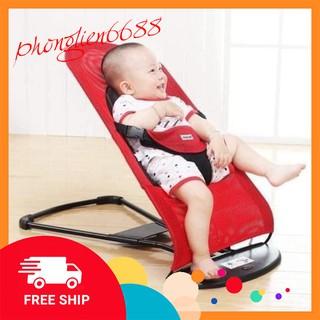 Ghế nhún tạo rung lưới thoáng khí gối đầu - ghế rung nhún đa năng cho bé nằm chơi ngủ uống sữa. Kèm đồ chơi cho bé thumbnail