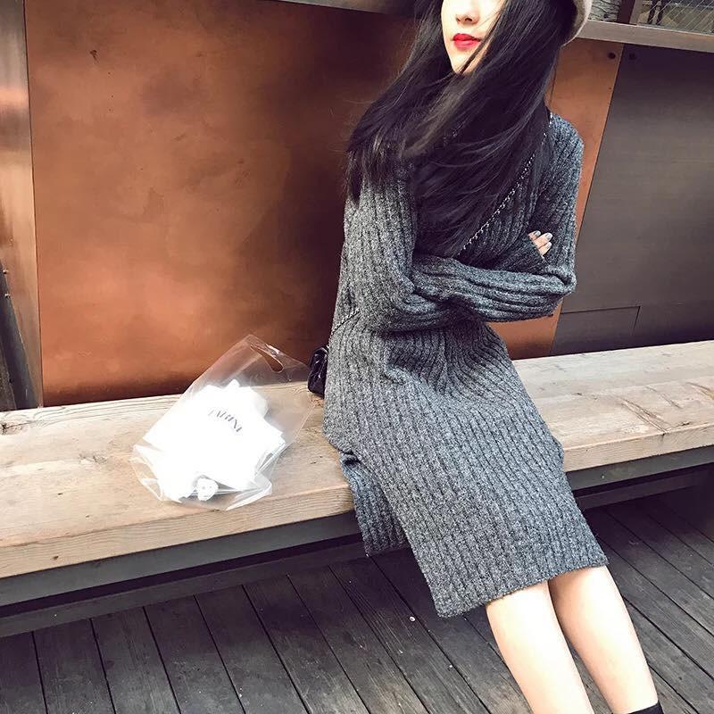 Đầm suông nữ chất len freesize - Hàng order Quảng Châu