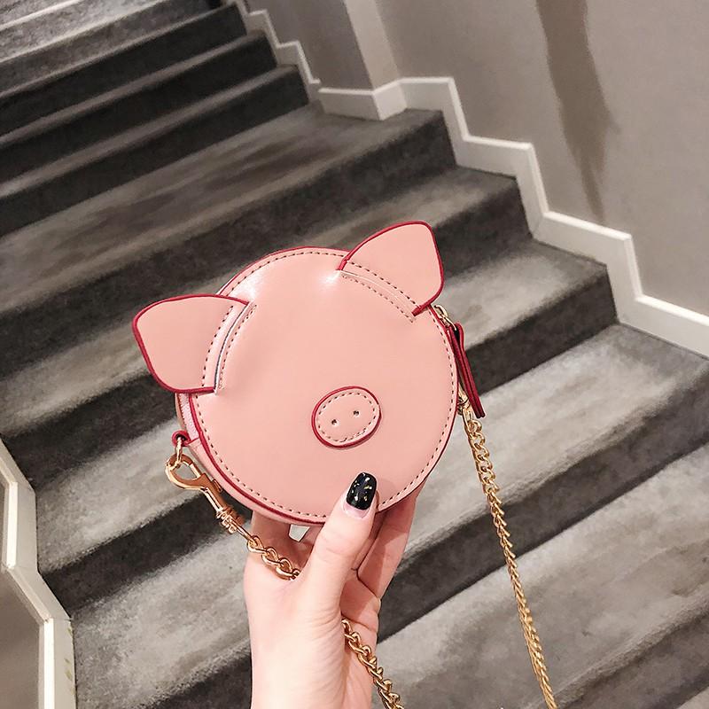 Pig bag handbags new 2019 Korean version of the wild color s