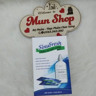 [CHÍNH HÃNG] SinuFresh - Muối Rửa Mũi Xoang Hộp 10 gói + 1 Chai rửa mũi 180 mL thumbnail