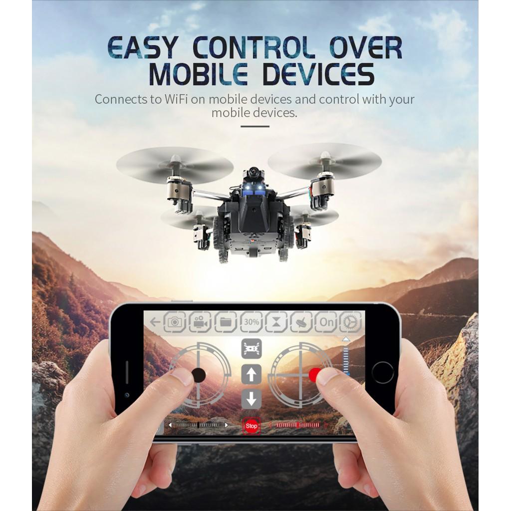 FLYCAM JJRC H40WH XE TANK ĐA CHỨC NĂNG CAMERA WIFI FPV XOAY 180 ĐỘ PHIÊN BẢN DRONE X TANK 2 TRONG 1