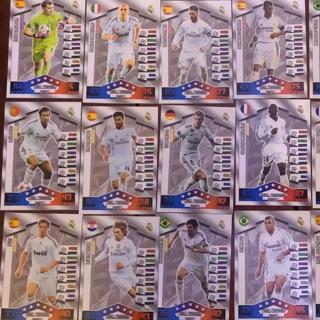 Thẻ cầu thủ bóng đá CLB Real Madrid