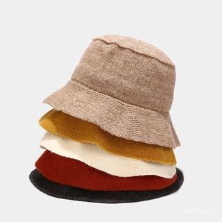 Nón Bucket Dệt Kim Phong Cách Nhật Bản Cho Nữ