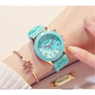 Đồng hồ thời trang nữ Geneva KM01 dây silicon mềm dẻo đeo êm tay, trẻ trung, hiện đại, nhiều màu dể dàng phối đồ