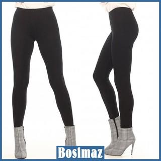Quần Legging Nữ Bosimaz MS011 dài không túi màu đen cao cấp, thun co giãn 4 chiều, vải đẹp dày, thoáng mát không xù lông thumbnail
