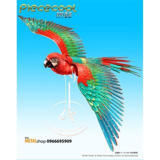 Mô Hình Lắp Ghép 3d Kim Loại vẹt scarlet macaw