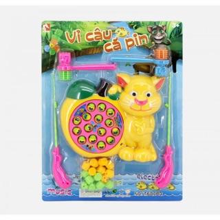 Bộ đồ chơi câu cá và đập chuột chạy pin, có nhạc (Tặng kèm pin AA 1.5V)