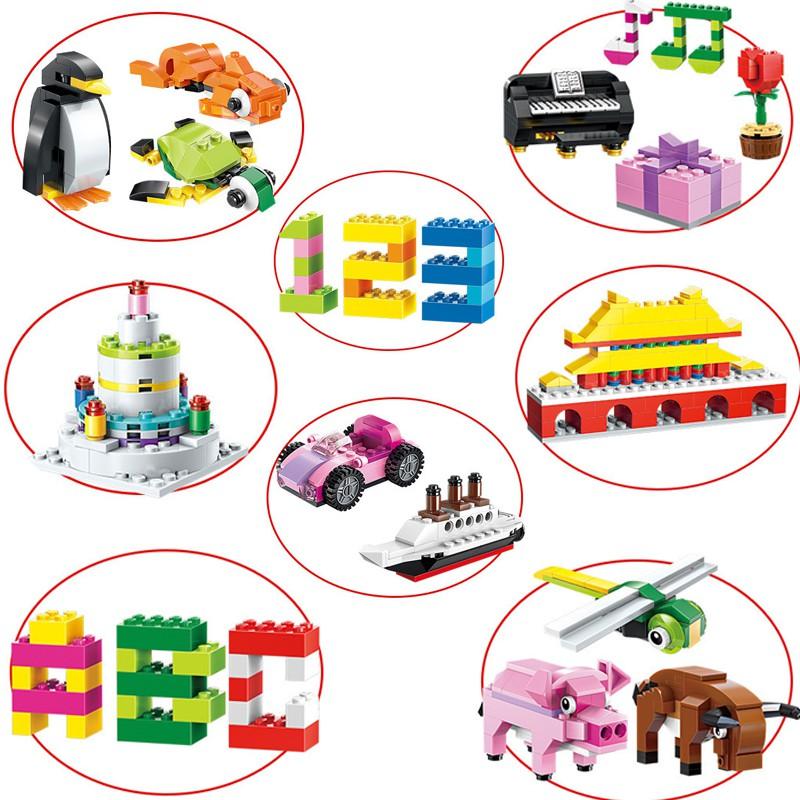 Đồ Chơi Lắp Ghép Trẻ Em TRÊN 3 TUỔI- BỘ LEGO CƠ BẢN 460 CHI TIẾT LEGOSTYLE