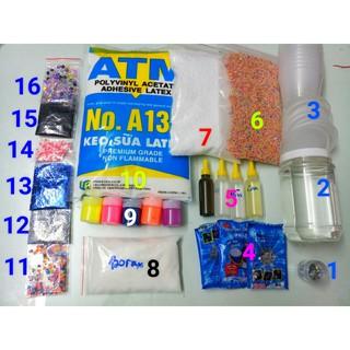 Combo/Bộ Kit Bắt Đầu Làm Slime – Starter Slime Kit