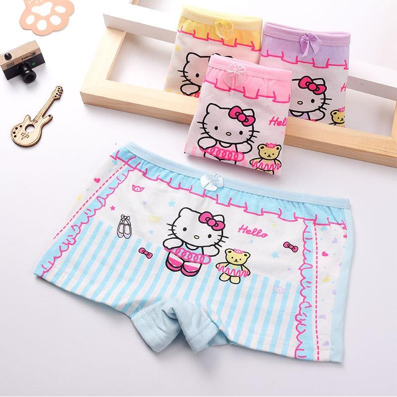 Quần chip đùi, quần lót cotton họa tiết đáng yêu xinh xắn cho bé gái QLTE01