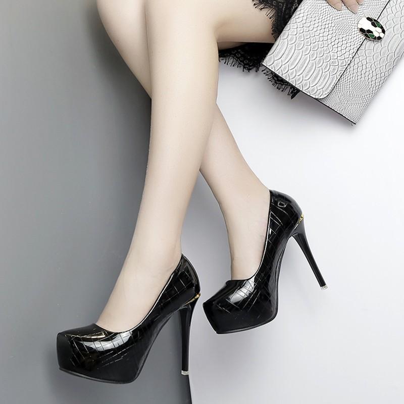 giày cao gót hàn quốc quyến rũ 12cm