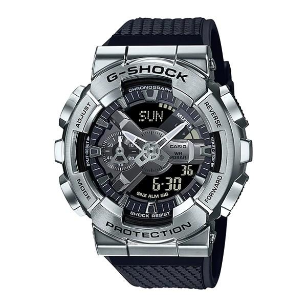 Đồng Hồ Nam Casio G-Shock GM-110-1ADR Chính Hãng | G-Shock GM-110-1A Silver Metal