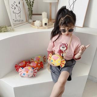 Túi Xách Đeo Chéo hình Kẹo ngọt ngào phong cách Hàn Quốc cho bé gái