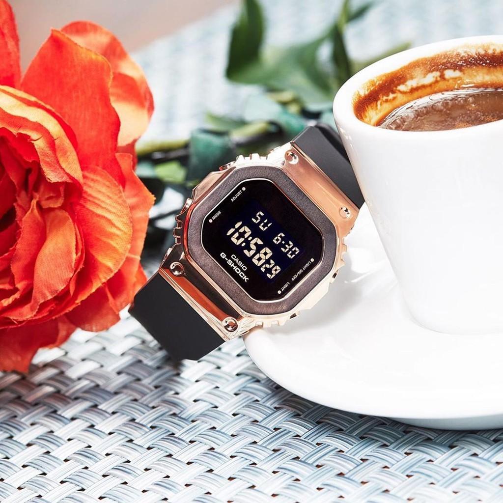 Đồng hồ nữ dây nhựa Casio G-Shock chính hãng Anh Khuê GM-S5600PG-1DR