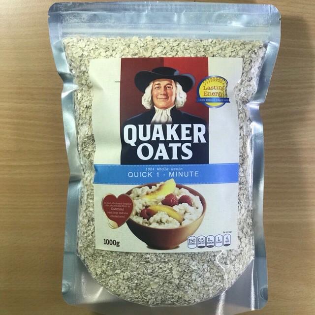 Yến mạch Quaker Oats túi zip 1kg hàng Mỹ