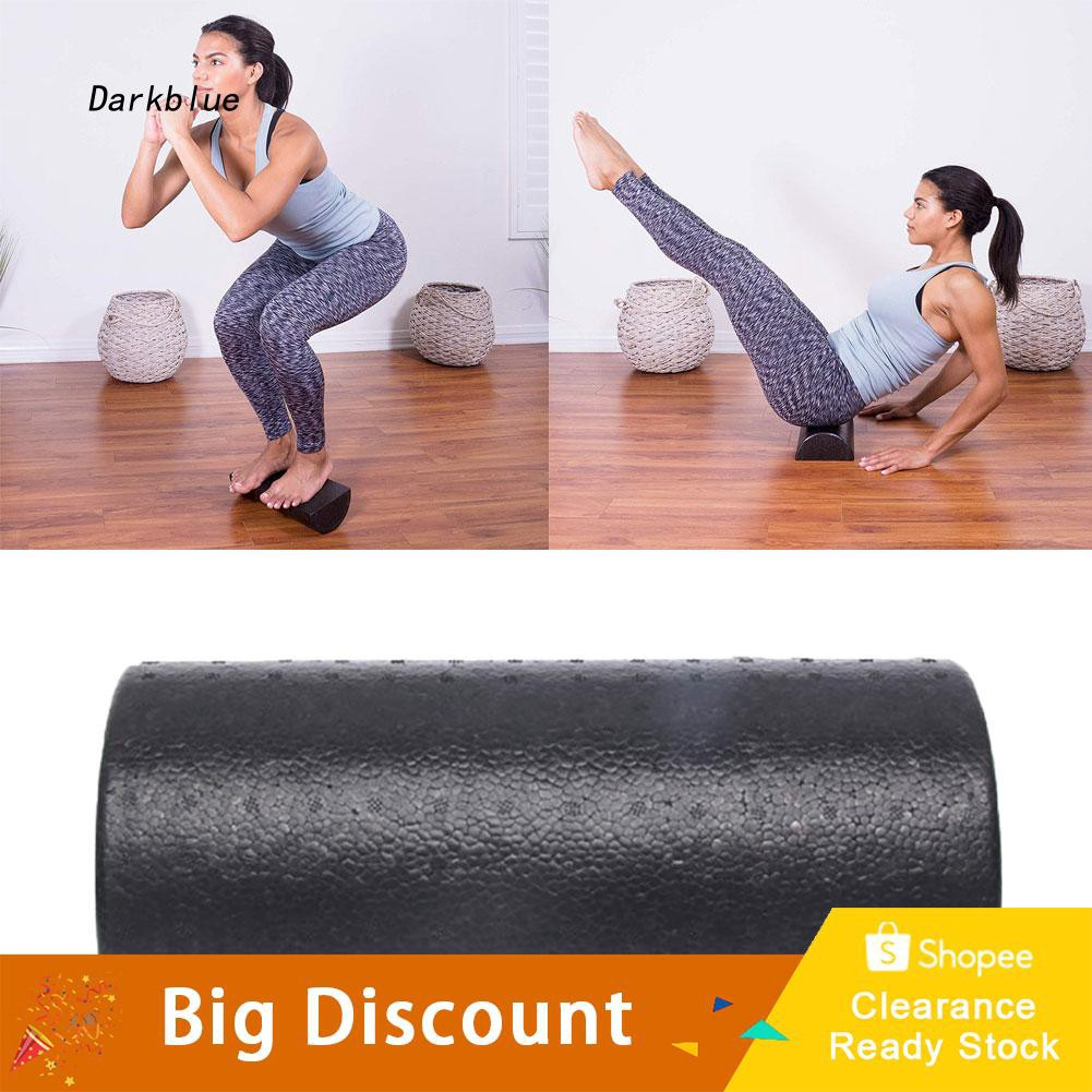 DKBL_Yoga Pilates Semi-circular Roller GYM Physio Massage Exercise Trigger Point Foam