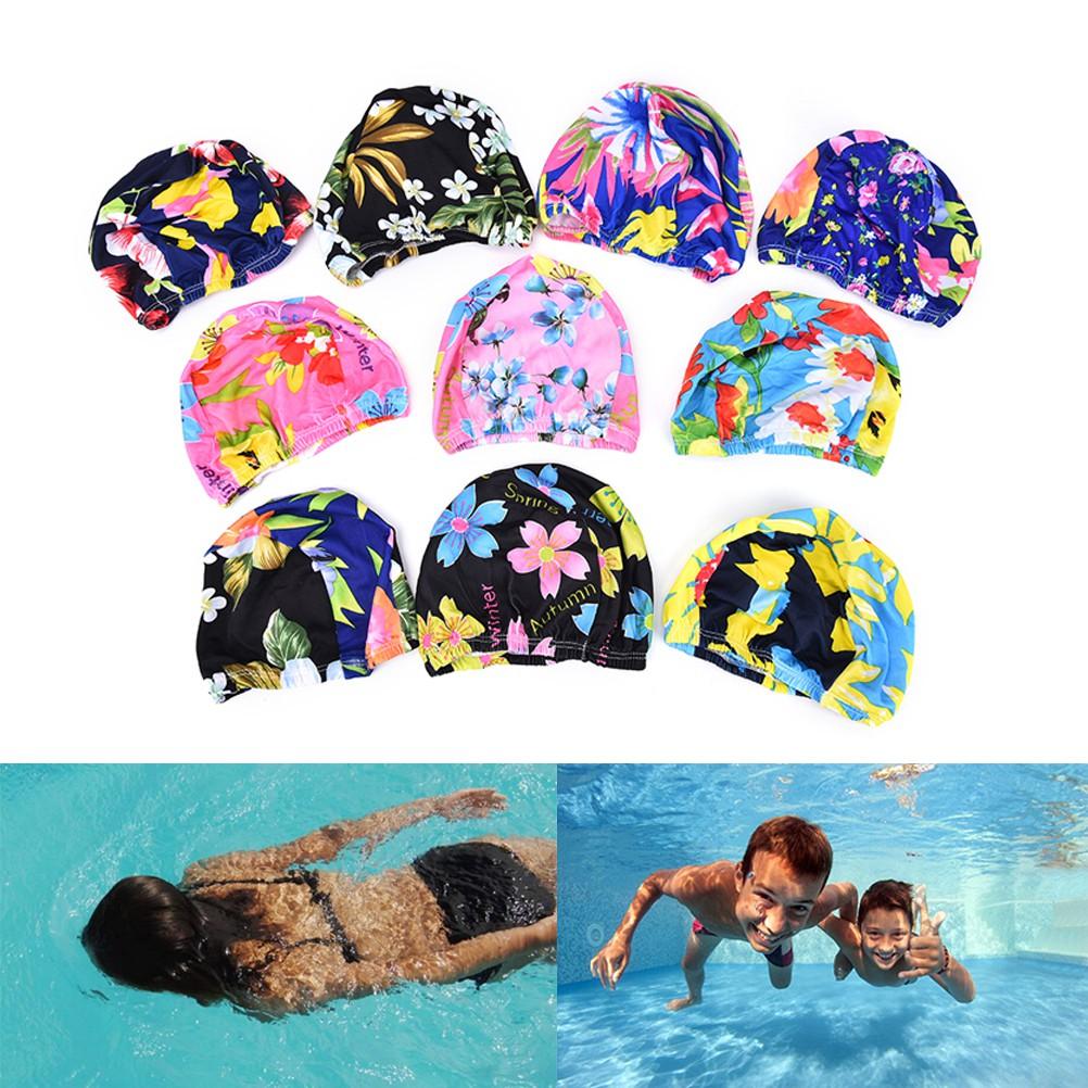 ❤TOP❤ Mũ bơi chống thấm nước họa tiết hoa cho nữ YO