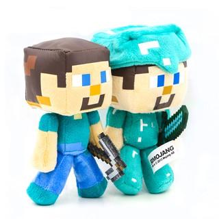Nhồi bông Minecraft Steve cầm kiếm và cup chính hãng