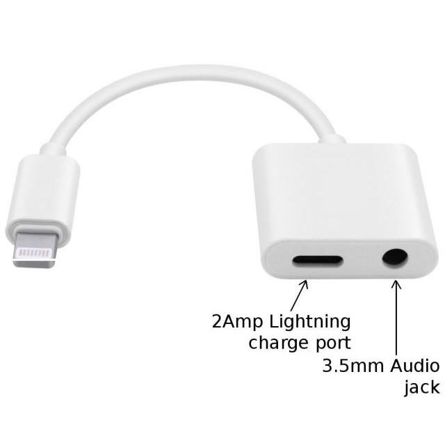 Jack chuyển 2 đầu Lightning Và Jack 3.5mm cho iPhone/iPad