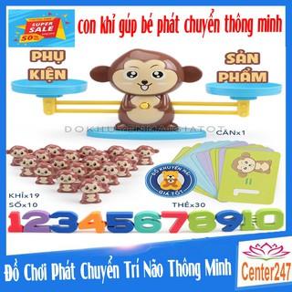 [ GIÁ SỈ ] Đồ chơi phát triển trí thông minh - Bàn cân toán học bàn cân khỉ con, thông minh YDZ-03 - Thị trấn đồ chơi thumbnail