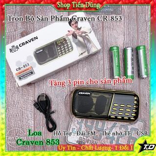 Loa nghe Craven RC 853 thẻ nhớ, Usb, FM tặng kèm 3 pin dung lượng cao nhỏ gọn âm thanh chất lượng giá hợp lý thumbnail