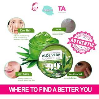 [Mã giảm giá mỹ phẩm chính hãng] Gel dưỡng ẩm Lô Hội FLORA BEAUTY Calming & Moisture Aloe Vera Smoothing Gel 99% thumbnail
