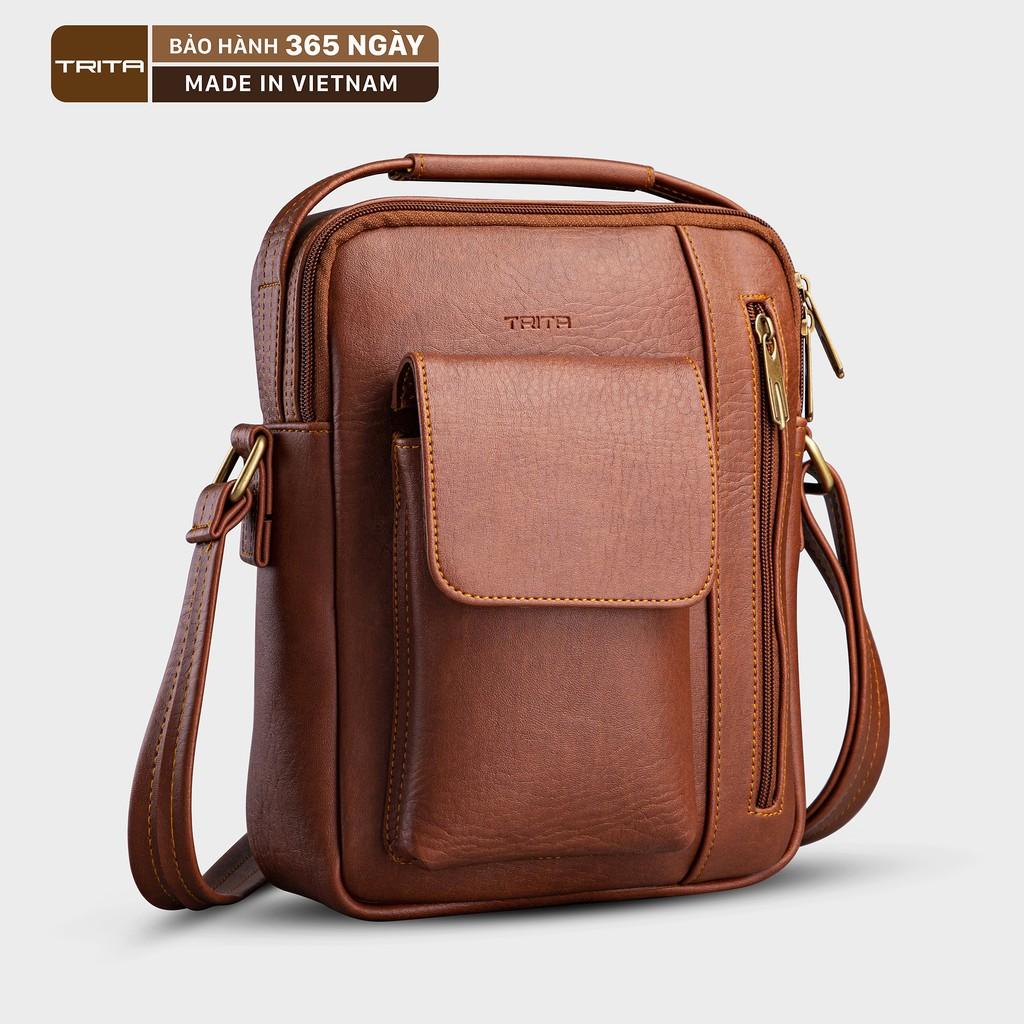 Túi đeo chéo da nam - nữ thời trang TRITA RTN3 nhiều