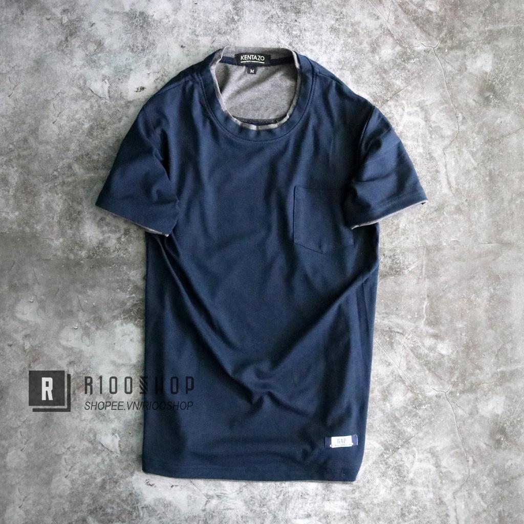 Áo thun nam cổ tròn có túi đơn giản trẻ trung RIN041 - áo thun nam ngắn tay Riooshop