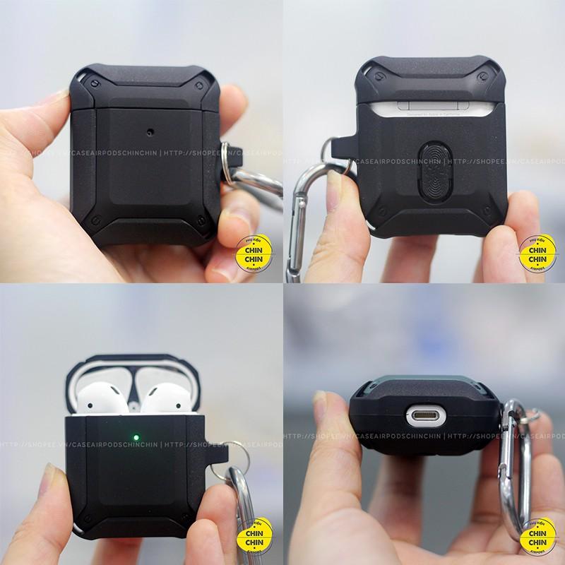 Vỏ Bảo Vệ Airpod 1 2 Pro Mecha Cực Đẹp Chất Liệu Nhựa TPU PC 2 Lớp Cao Cấp Chống Bám Bụi Siêu Bền - Chinchin Case