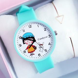 Đồng hồ thời trang nữ dây cao su Maruko Candycat PKHRCAT002 (Đường kính mặt: 36 mm)