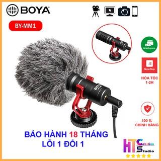 Micro Boya BY-MM1 thu âm cao cấp cho máy ảnh DSLR, action camera, và điện thoại – Hàng Chính Hãng