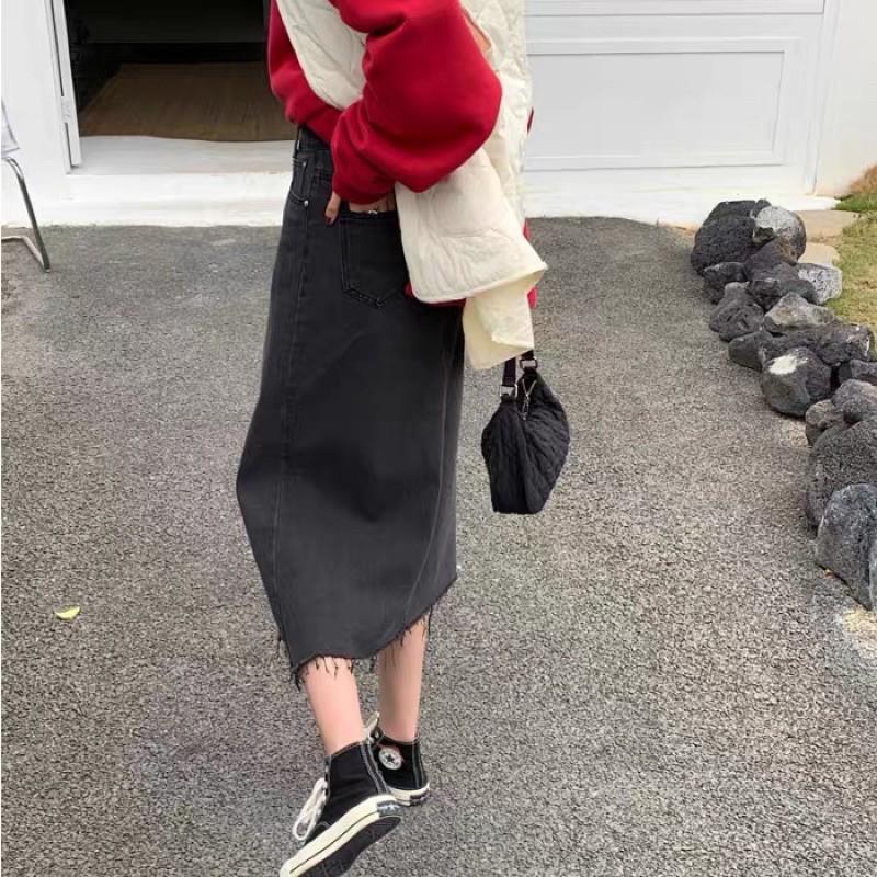 Chân váy jean sale 189k