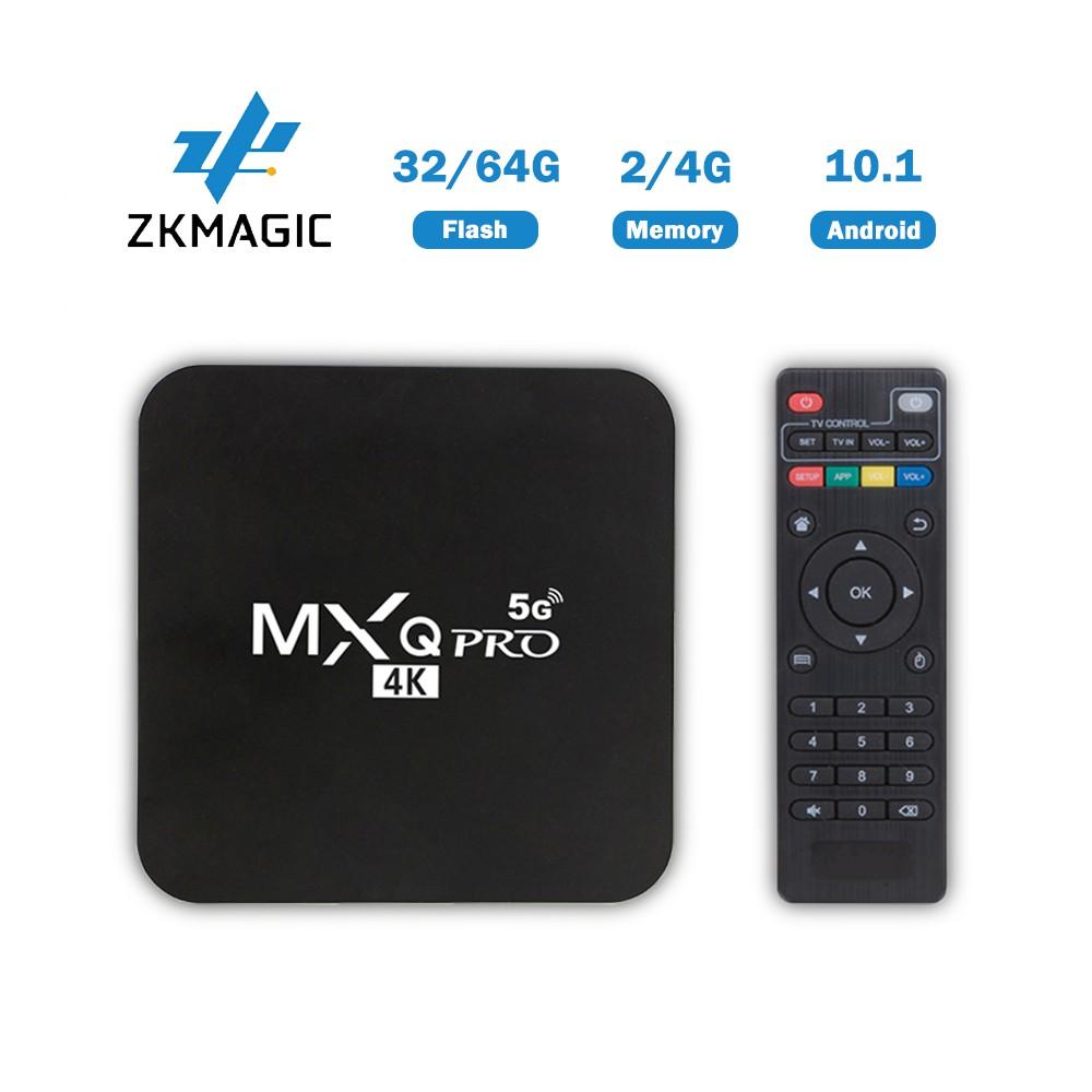 Đầu thu tín hiệu TV Zkmagic MXQ Pro 4k Android 10.1 TV Box RK3229 2G16G 4G32G HD 3D 2.4G Hỗ Trợ WiFi Google Play Youtube