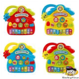 ♪U-Baby Children Animal Keyboard Educational Cartoon Musical Instrument Toy Farm Shaped Electronic Piano