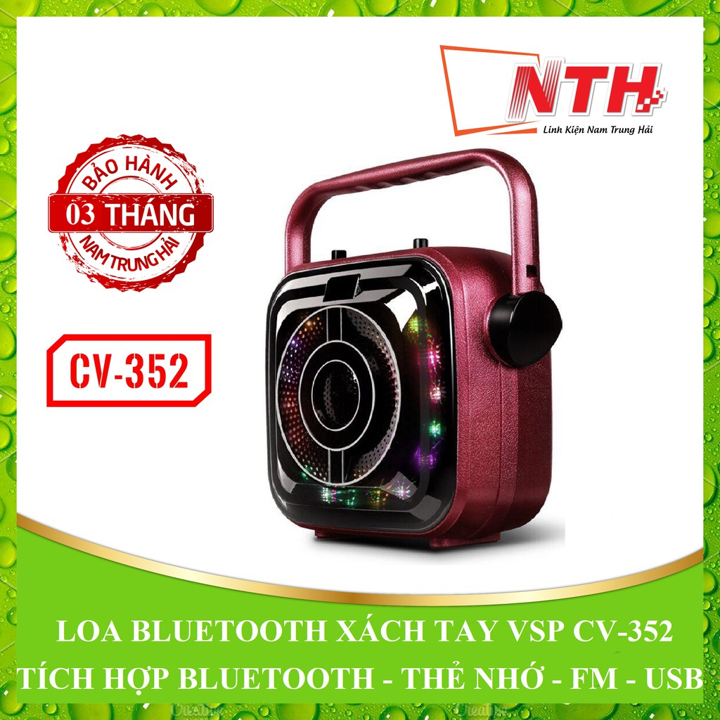 [NTH] LOA XÁCH TAY BLUETOOTH VSP CV-352 LED