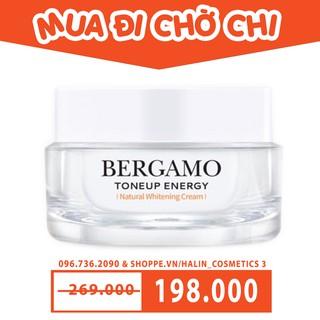 Kem Dưỡng Trắng Nâng Tone FREESHIP kem dưỡng trắng nâng tone Bergamo Whitening Tone Up Cream 50ml HALIN